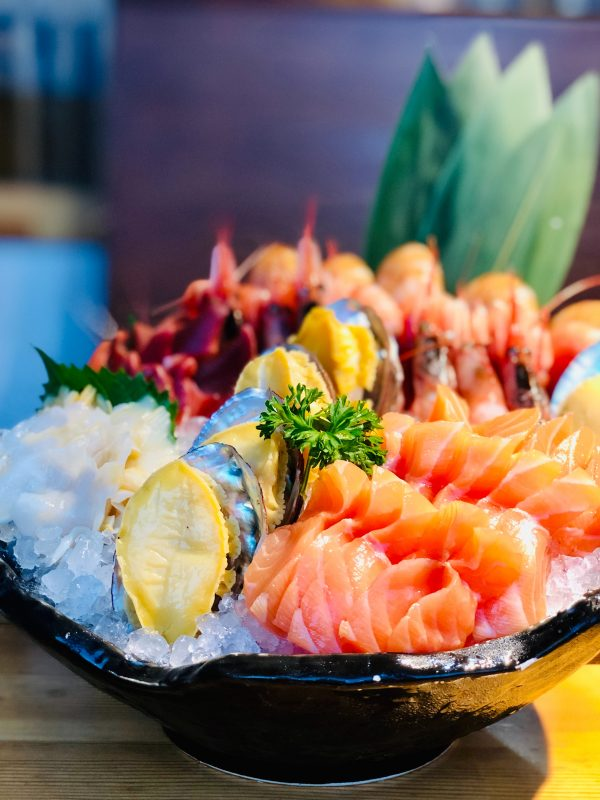 Bowl of Seafood on a Table